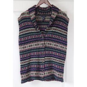 Chaps Women's Cardigan Plus Size 3x Multi-Color